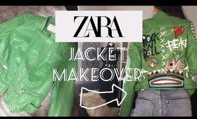 DIY : modifikasi jaket ZARA / ZARA Jacket makeover .