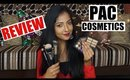 *NEW* PAC COSMETICS HAUL REVIEW | Eyeshadow Palettes, Mascara, Setting Spray, etc | Stacey Castanha