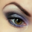 Violet & Gray Evening Make-up