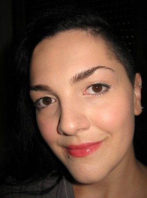 Sephora lip crayon applied very lightly, like a gloss...