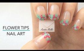 Flower French Tip Nail Art