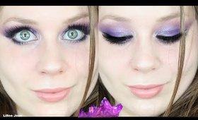 Colourpop So Jaded Palette Purple Blue Glittery Eyeshadow Makeup Tutorial