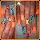neon peach & turquoise!