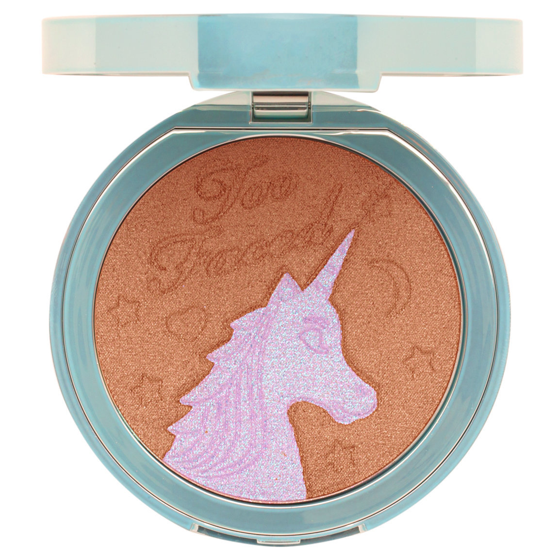 Too Faced Unicorn Tears Bronzer product smear.