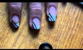 Party glitter nail art tutorial