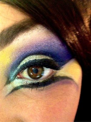 this is a look i did a few weeks ago using inglot and mac products