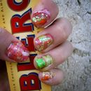 Colourful water marble