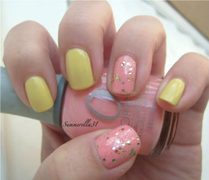 Sally Hansen Complete Salon Manicure Yellow Kitty, Orly Cotton Candy, and Sally Hansen Xtreme Wear Set the Stage