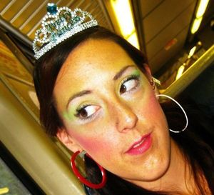 make up I did for the Mermaid Parade 2011