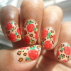 Roses with leopard print