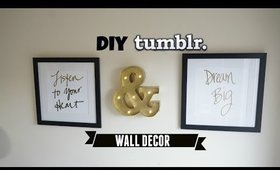 DIY TUMBLR WALL DECOR & DIY MARQUEE LIGHT LETTER | EASY & AFFORDABLE
