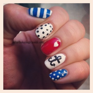 Finally, FINALLY, I did nautical nails... been on the to-do list forever!