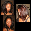 Blow-out  flat iron on natural hair