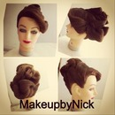 Elegant Finger Waved updo