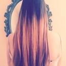 Straight Dip dyed hair
