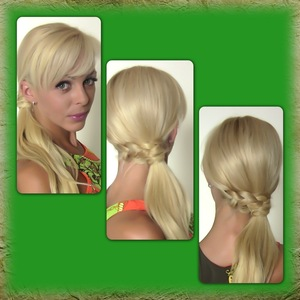 Learn how to recreate this cute hairstyle here http://youtu.be/AOE6qAtC4cM
