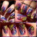 Rainbow Gradient With A Zebra Print