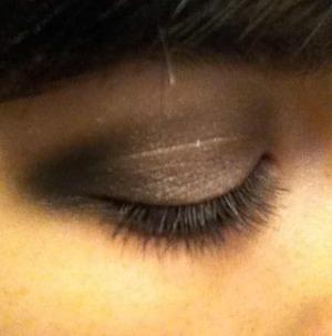 Shimmery smokey eye courtesy of Naked and Naked 2.