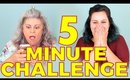 5 Minute Makeup Challenge with Glam Packed | Bethany Kibbe