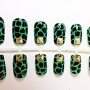 Studded Ninja Turtle Press on Nails