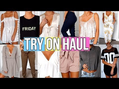 8bb6bcce8dc TRY ON CLOTHING HAUL Back To School 2017