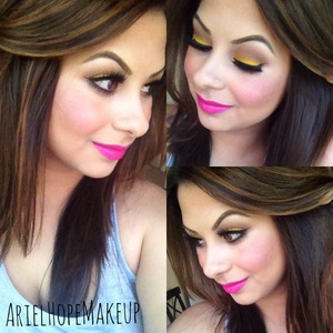IG: @ariel_hope Facebook: ArielHopeMakeup You Tube: ArielHopeMakeup   Dose of Color Double Dose Lashes Dose of Color Seductive Lipstick Sugarpill Buttercupcake Eyeshadow
