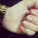 Nude+Gold Glitter