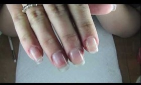 Adding length to your natural nail using Gelish Hard Gel and Dual Forms