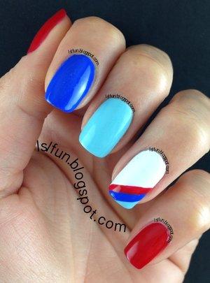 Easy BMW manicure lslfun.blogspot.com