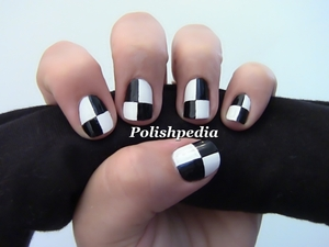 Can't wait to try out even more colors with this design!  Watch My Tutorial for This: http://polishpedia.com/puzzle-nail-art.html
