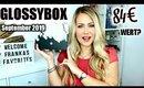 Glossybox September 2019 UNBOXING (schon wieder so ein hoher Wert?)