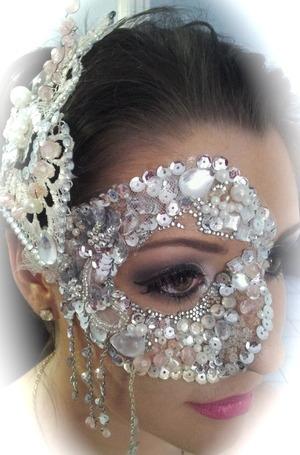 Masquerade  Hair piece, mask and makeup- Jen P