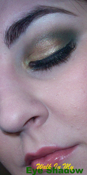 Smokey Olive and Gold Look
