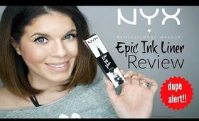 #New Drugstore Dupe for Kat von D Tattoo Liner | NYX Epic Ink Liner Review + Demo | @girlythingsby_e