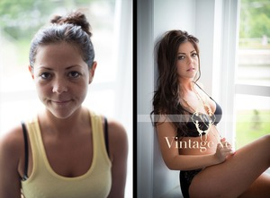 Boudoir photo session... Before and after. X