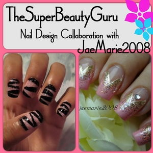 Tutorial for this look here: http://superbeautyguru.com/pink-glitter-tape-manicure/