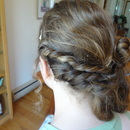 Greek inspired Prom half-updo (back)