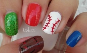 Nail Art - Baseball Nails - Uñas de Beisbol