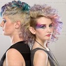 Colourful Make-up And Hair