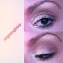 Shimmery simple bronze look