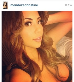Beautiful model Christine Mendoza wearing our Cleopatra mink lashes <3