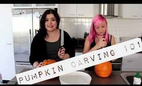 PUMPKIN CARVING WITH HAIRYFRANKFURT || Tia Simone