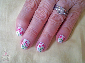 Painted my friend's grandmother's nails for her 80th birthday!
