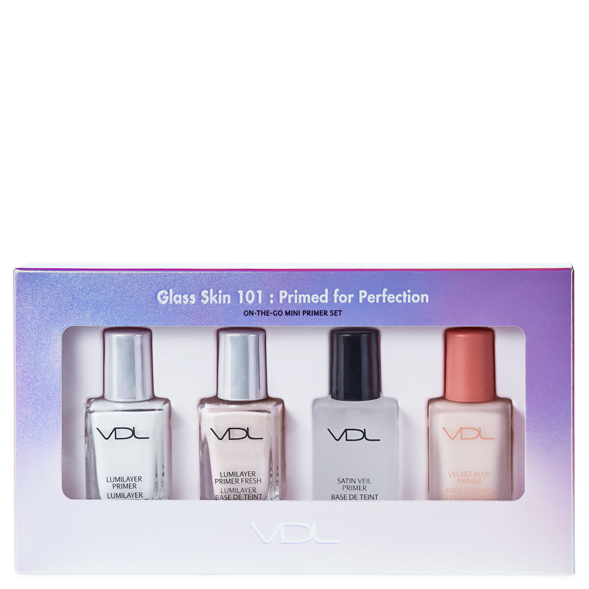 VDL Glass Skin 101: Primed for Perfection Mini Primer Set product swatch.