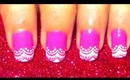 Barbie Doll nailart tutorial (easy nailart).... :-)
