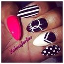 Chanel Monochrome Nails