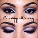 Cut crease with smudged liner