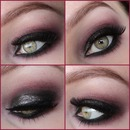 Smokey Eye With Red&Glitters collage