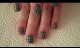 Hounds Tooth Check Nail Design
