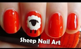 Chinese New Year 2015 Nails ♥ Easy Sheep Nail Art